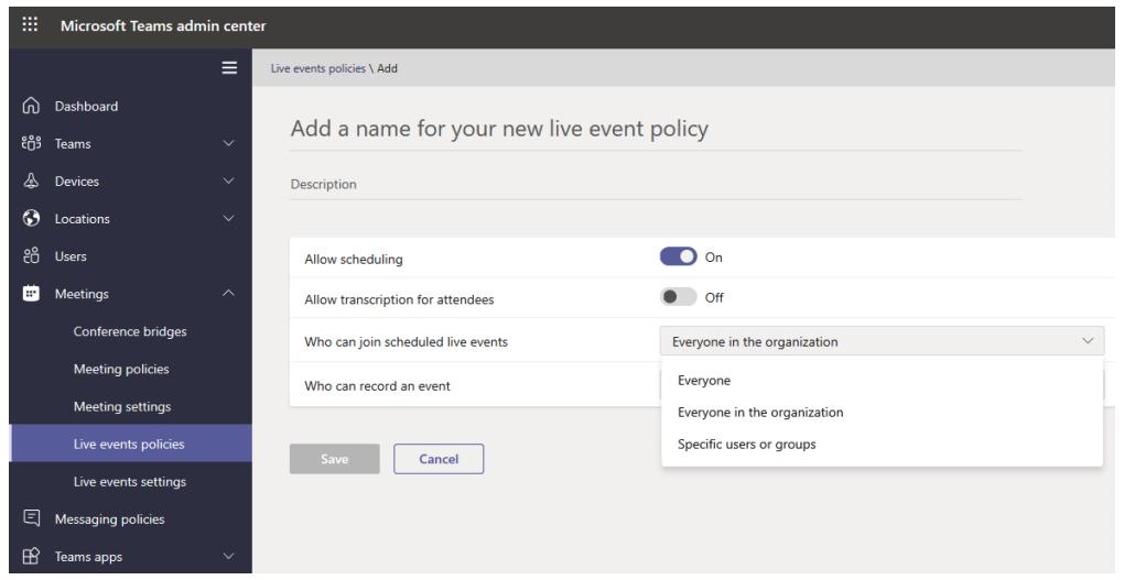 Microsoft Teams admin center